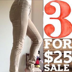 Am Eagle Beige Corduroy Jegging